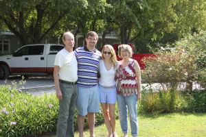 Alex, Charlie and Alex's parents Doug and Leila